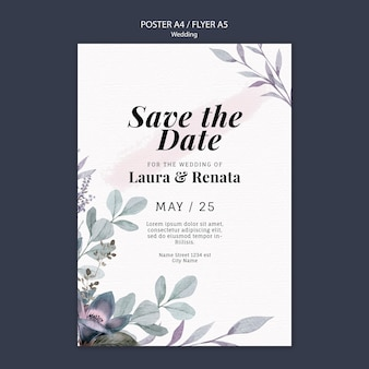 Wedding event poster template design