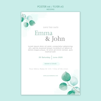 Шаблон оформления свадебного флаера