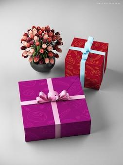 Макет свадебной подарочной коробки