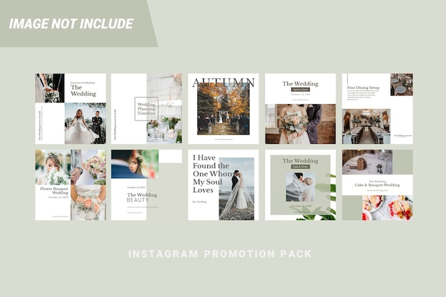 Wedding instagram post graphic template