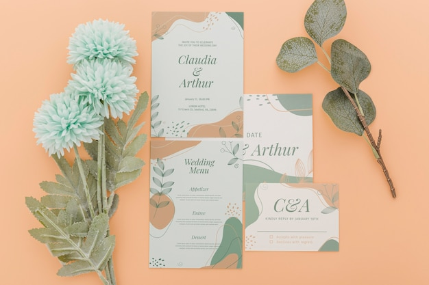 Wedding invitation arrangement