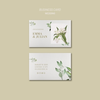 Wedding invitation business card template