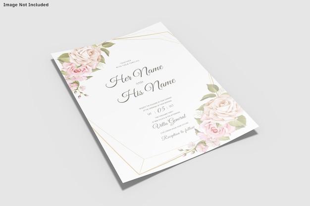 결혼식 초대 카드 템플릿 insolated