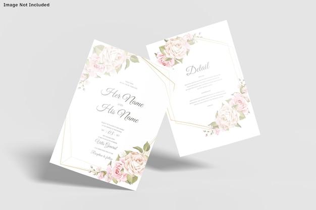 결혼식 초대 카드 템플릿 Insolated 프리미엄 PSD 파일