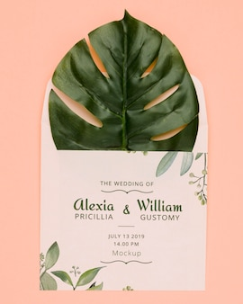 Wedding invitation concept mock-up