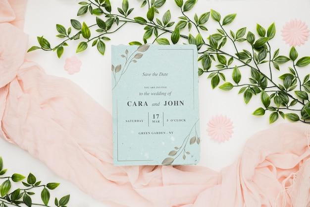 Wedding invitation concept mock-up
