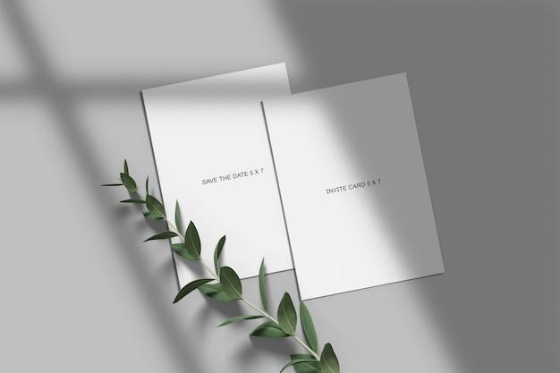 Wedding invitation mockup