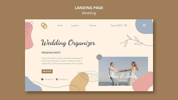 Tema della pagina di destinazione del matrimonio