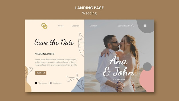 Свадебная целевая страница