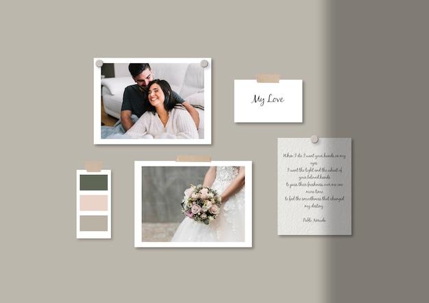 Wedding moodboard template