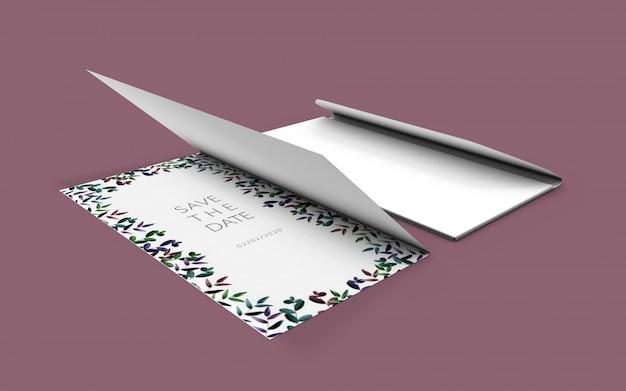Wedding nature card mockup
