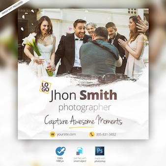 Wedding photographer banner ad