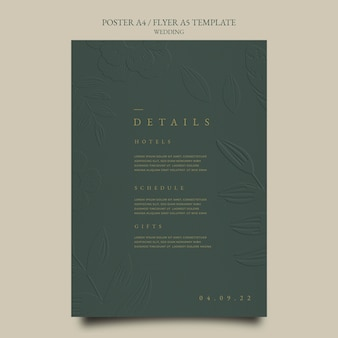 結婚式のポスターデザインテンプレート
