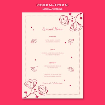 Wedding poster template design