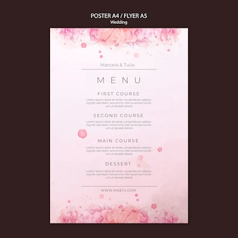 Wedding poster template