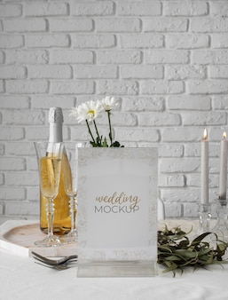 Wedding table display mock-up