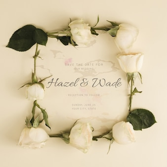 Wedding white roses buds