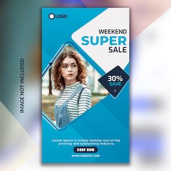 Weekend sale instagram stories