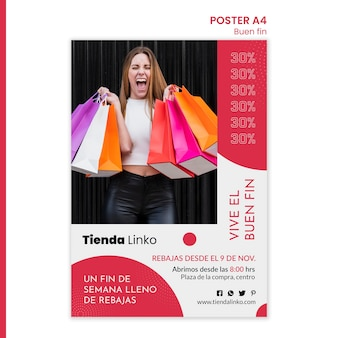 Weekend sale poster template
