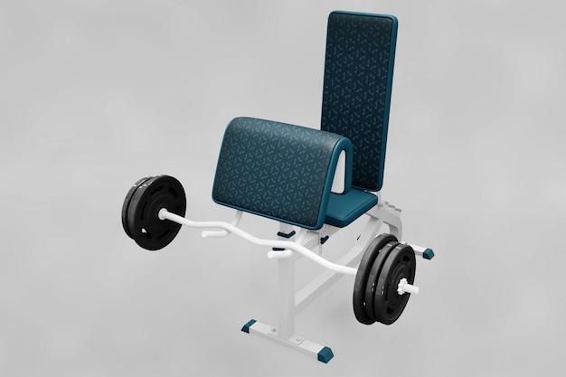Weightlifting elements mockup