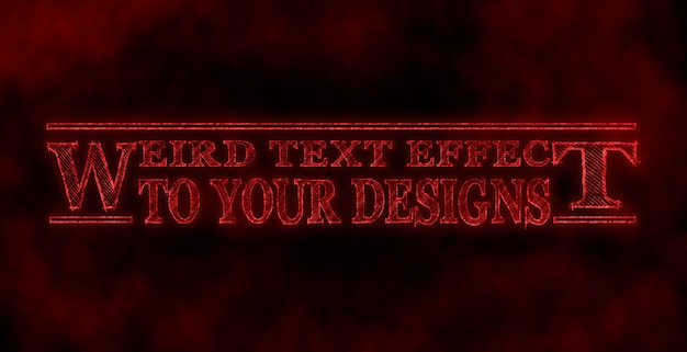 Weird text effect to your designs