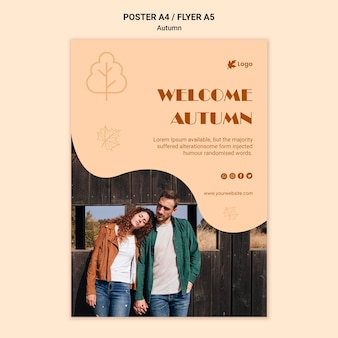 Welcome autumn flyer template