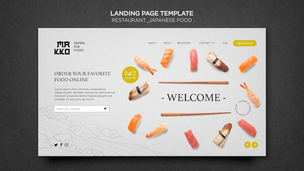Welcome to japanese restaurant landing page