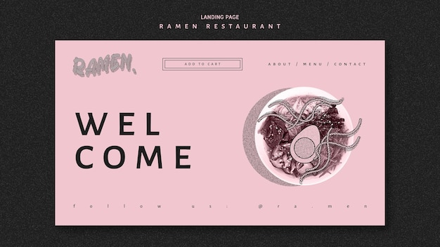Benvenuti nella pagina di destinazione del ristorante ramen