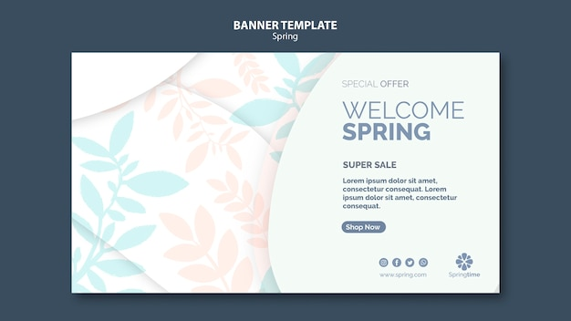 Welcome spring banner template