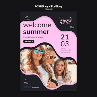 Welcome summer poster template