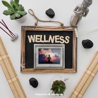 Wellness decoration with frame