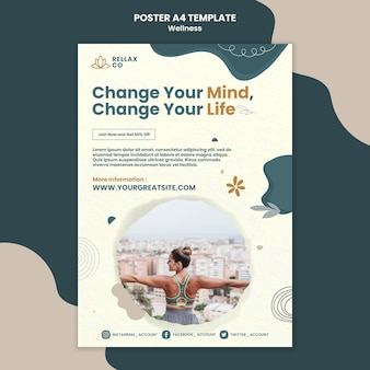 Modello di progettazione di poster di benessere