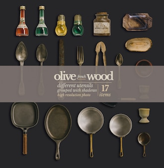 Western food wooden tableware plate food