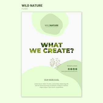 What we create wild nature flyer template