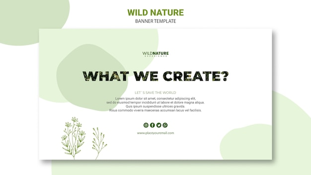 What we creature nature banner template