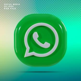Логотип whats app 3d визуализации роскоши