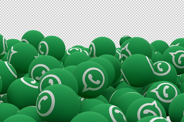 Whatsappアイコン絵文字3 dレンダリング、ソーシャルメディアバルーンアイコン