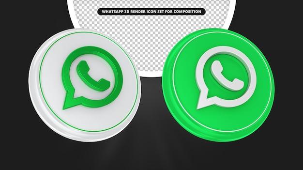 Набор иконок для 3d визуализации whatsapp