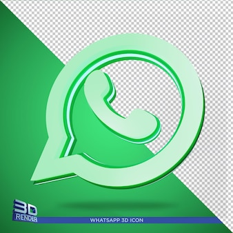 Whatsapp 3d rendering icon isolated