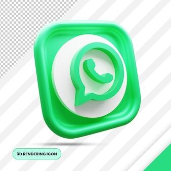 Whatsapp3dレンダリングアイコン