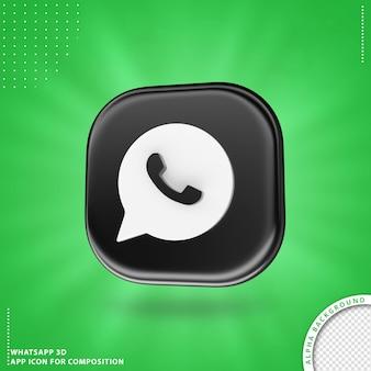 Whatsapp aplication icon for composition  black