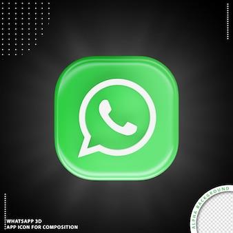 Whatsapp aplication icon for composition