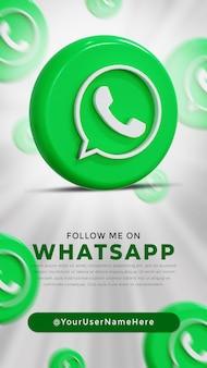Whatsapp glossy logo and social media icons story