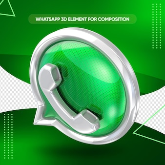 Whatsapp icon 3d render design