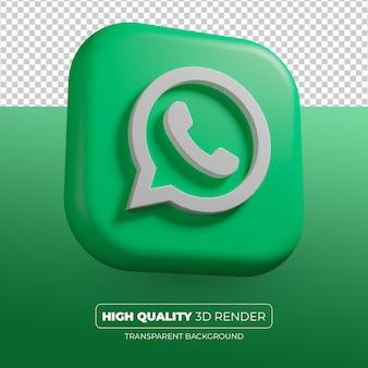 Значок whatsapp 3d визуализации изолированные