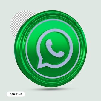 Whatsappアイコン3dレンダリングが分離されました