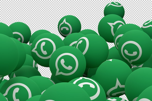 Whatsapp icon emoji 3d render, social media balloon icon