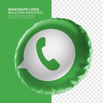 Whatsapp logo 3d balloon