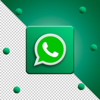 Whatsapp logo 3d rendering isolated