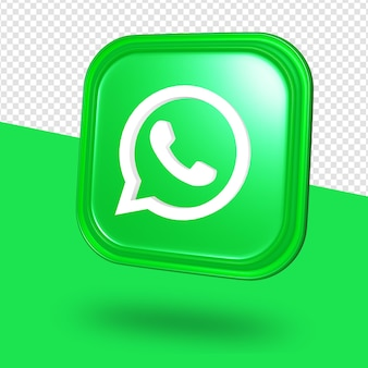 Whatsapp logo isolated 3d rendering